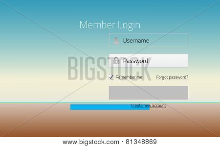 Modern Member Login Website Form With Tranparent Effect