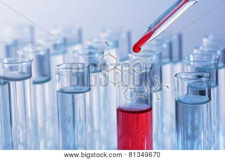 Test tubes close-up
