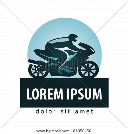 motorcycle racer vector logo design template. motorcycle or sports icon.