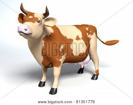 Cartoon Style Patchy Cow