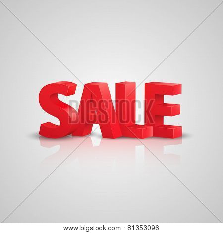 Sale text. Vector