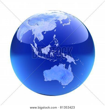 Glassy Globe. Australia