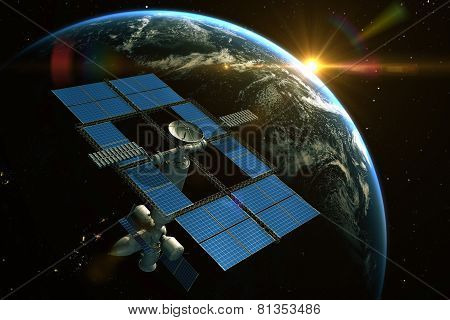 Space Station Is Orbiting Around The Earth