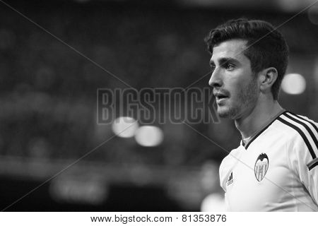 VALENCIA, SPAIN - JANUARY 25: Gaya during Spanish League match between Valencia CF and Sevilla FC at Mestalla Stadium on January 25, 2015 in Valencia, Spain