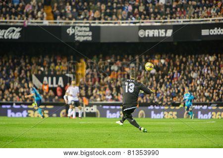 VALENCIA, SPAIN - JANUARY 25: Beto during Spanish League match between Valencia CF and Sevilla FC at Mestalla Stadium on January 25, 2015 in Valencia, Spain