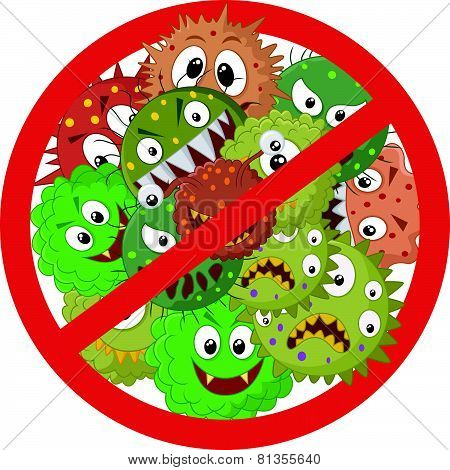 Stop virus cartoon