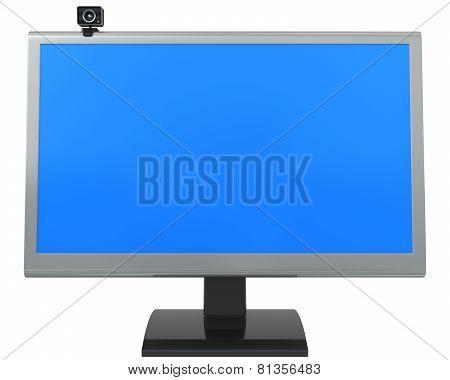 Lcd Monitor And Web Camera