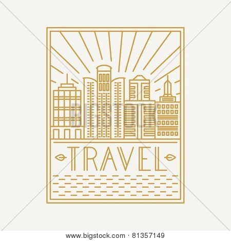 Vector Travel Poster Design Template