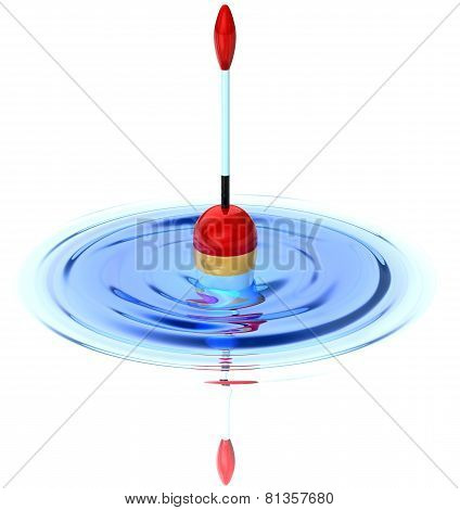 Fishing Bobber On The Ripple