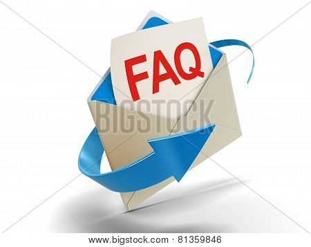 Letter FAQ (clipping path included)