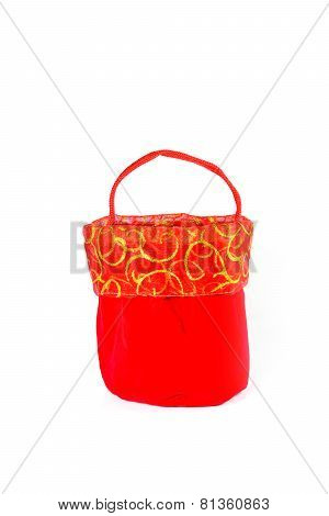Red Bag For Chinese New Year Isolated