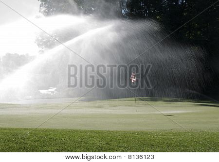Watering The Green