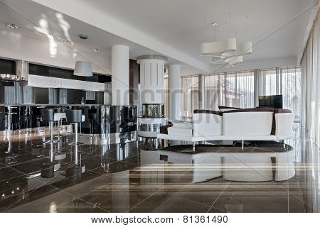 Modern Luxury Interior In Daylight