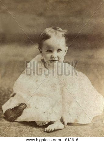 1876 Vintage Photo of a Baby