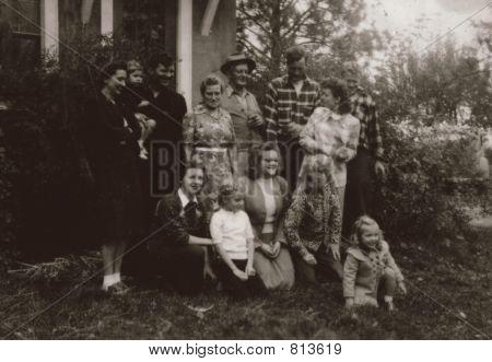 Vintage 1935 Family Photo