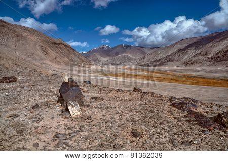 Arid Landscape In Tajikistan