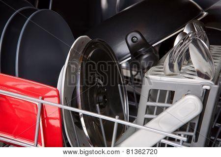 Dishes In Washing Machine