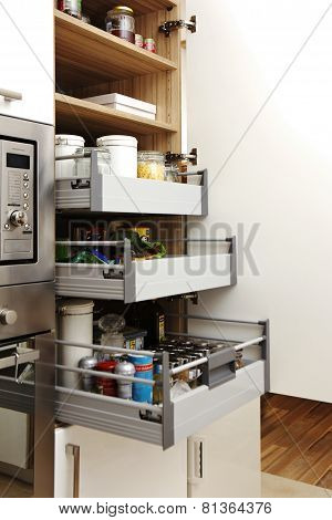 Open Sockets In Furnished Kitchen
