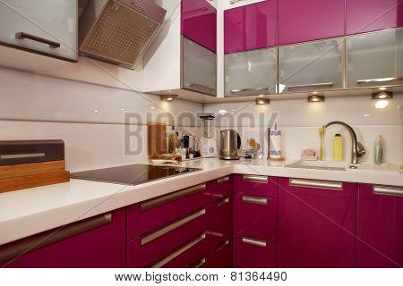 Modern Pink Kitchen