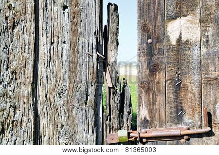 Dilapidated Wooden Gate