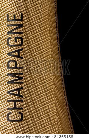 Top of a champagne bottle