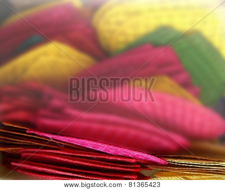 fan handicraft color blur