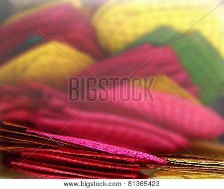 fan handicraft color blur