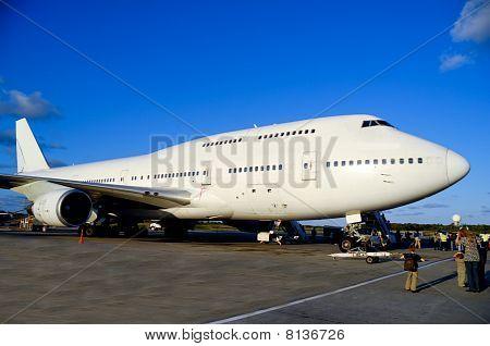 Jumbojet Plane In Airport