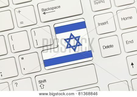 White Conceptual Keyboard - Israel (key With Flag)