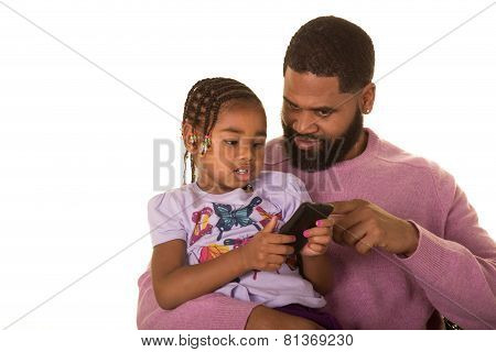 A dad and his daughter
