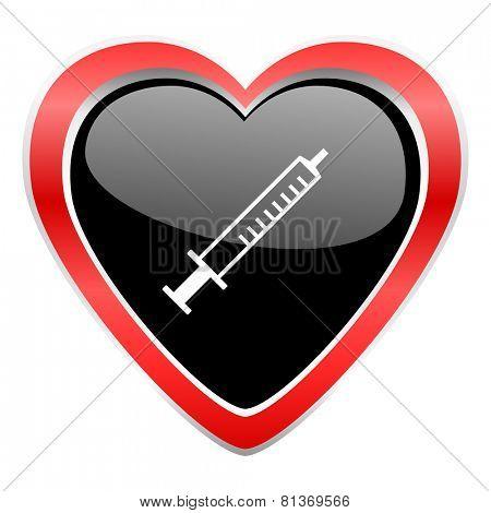 medicine icon syringe sign