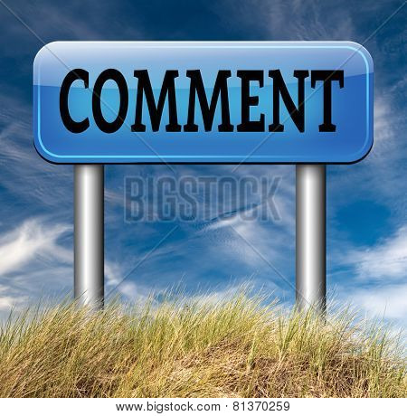 leave comment or write testimonial customer and user feedback road sign arrow