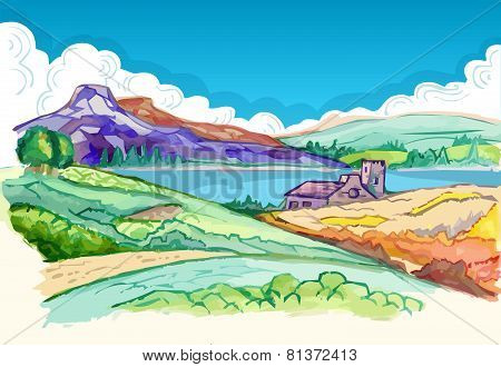 Picture - Hills In Spring