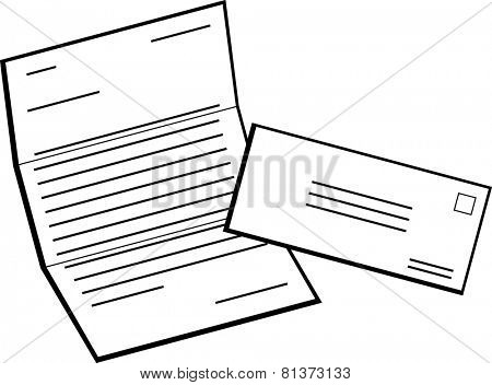 mailed document and envelope