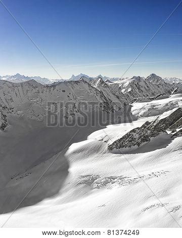 Swiss Alpine Peaks Ridge Landscape Panorama