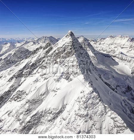 Swiss Alpine Jungfrau Peak
