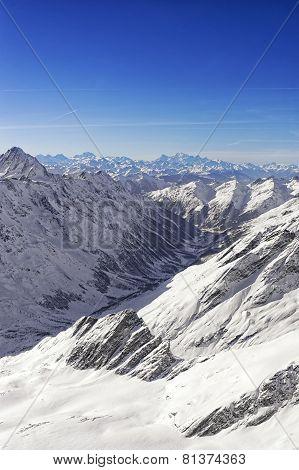 Swiss Alpine Peaks Landscape
