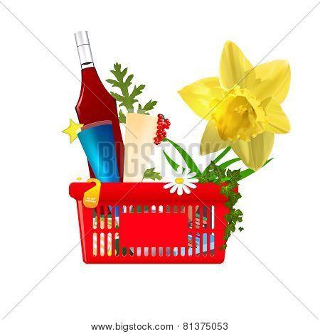 Valentine's  vector shopping cart