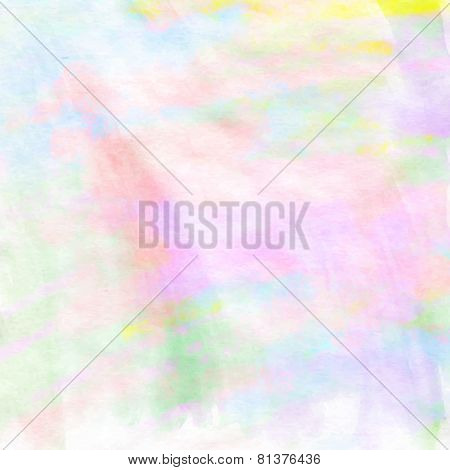 Light destressed spring colors painting background for your design. Vector illustration.
