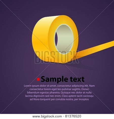 Roll of yellow sticky tape