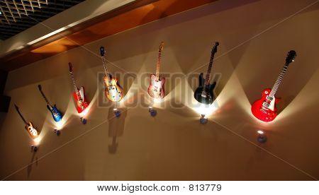 Fila de guitarras