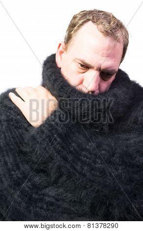 man wearing a Angora Sweater