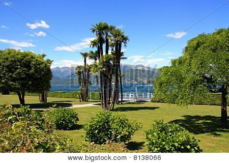 Garden By The Lake Maggiore Italy