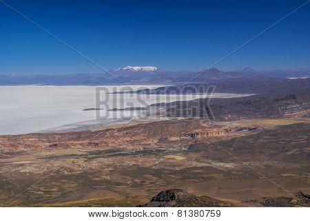 Salar De Uyuni Aerial View