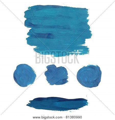 Blue gouache painting banners