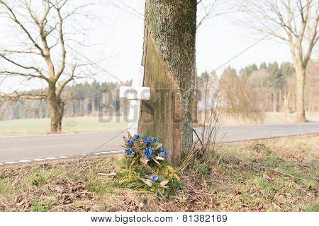 Death cross on the tree
