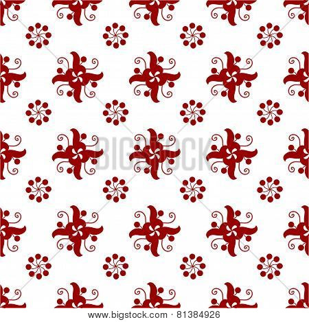 red pattern, seamless