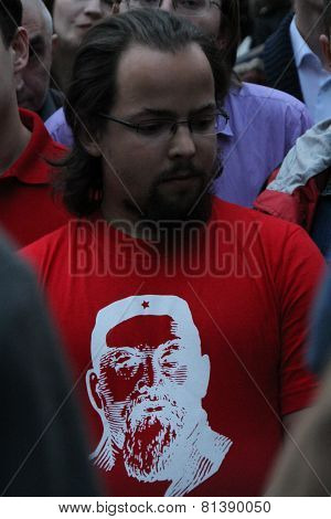 T-shirt With The Poet Abay The Kunanbayevy Symbol Of A Series Of Oppositional Actions Of 2012 Okkupa