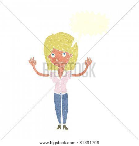 cartoon woman with no worries