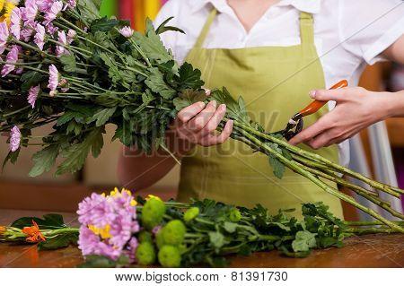 Florist At Work.